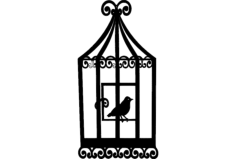 bird cage 2 Free Dxf File for CNC