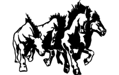 horse sampede Free Dxf File for CNC