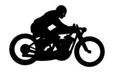 dirt track motorcyle Free Dxf File for CNC