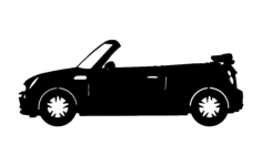 mini convertable car Free Dxf File for CNC