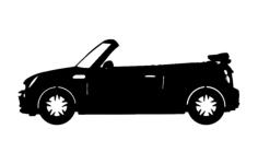mini convertable car Free Dxf File for CNC