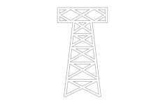 small oil derrick Free Dxf File for CNC