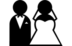 bride and groom clipart Free Dxf File for CNC