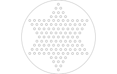 chinese checkers Free Dxf File for CNC