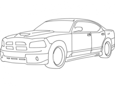 dodge charger Free Dxf File for CNC