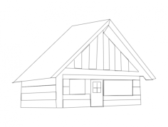 cabin 111 Free Dxf File for CNC
