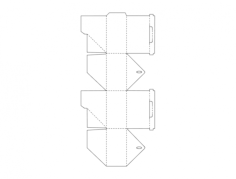shipping storage box Free Dxf File for CNC