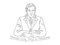 doctor Free Dxf File for CNC