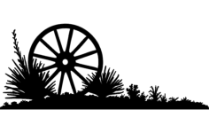 wheel a Free Dxf File for CNC