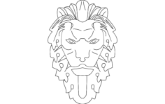 lion Free Dxf File for CNC