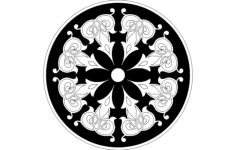 round floral design Free Dxf File for CNC