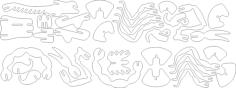 scorpion 3d puzzle laser cut Free Dxf File for CNC