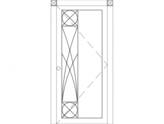 gorgeous modern single front door Free Dxf File for CNC