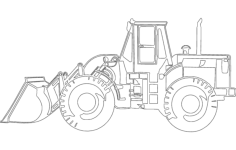 caterpillar bulldozer Free Dxf File for CNC