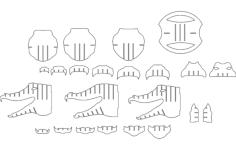 alligator Free Dxf File for CNC