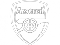 arsenal Free Dxf File for CNC