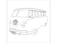 vw-camper-van Free Dxf File for CNC