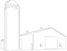 barn silo Free Dxf File for CNC