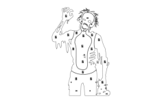 zombie-target Free Dxf File for CNC
