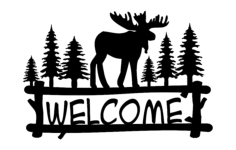 welcome moose Free Dxf File for CNC