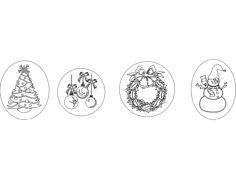 happy holidays stuff Free Dxf File for CNC
