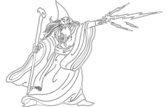 wizard silhouette Free Dxf File for CNC