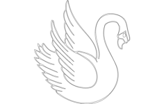 swan Free Dxf File for CNC