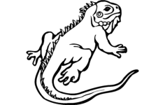 lizard animal Free Dxf File for CNC