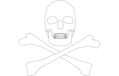 silhouette skull Free Dxf File for CNC