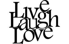 live love laugh art Free Dxf File for CNC