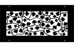 vine pattern Free Dxf File for CNC