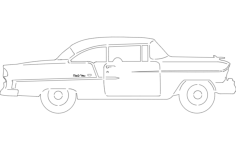 55 chev belair Free Dxf File for CNC