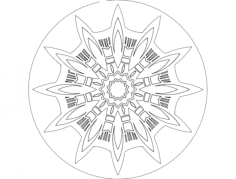 mandala 7 Free Dxf File for CNC