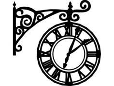 relógio romano Free Dxf File for CNC