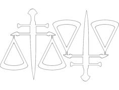 2 balança da justica49x52 Free Dxf File for CNC