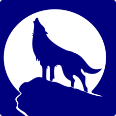 wolf Free Dxf File for CNC