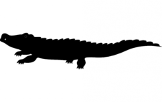 crocodile silhouette vector Free Dxf File for CNC