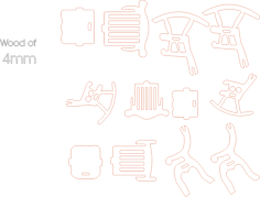 chairs 4mm Free Dxf File for CNC