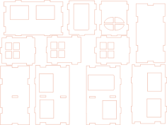 house Free Dxf File for CNC