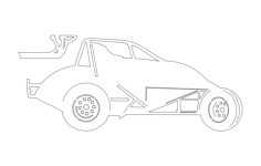 sprint car 2 Free Dxf File for CNC