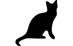 cat silhouette vector Free Dxf File for CNC