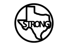 texas strong Free Dxf File for CNC