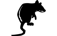 rat Free Dxf File for CNC