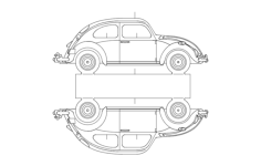 vw 5 Free Dxf File for CNC