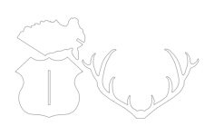 deer head 3d Free Dxf File for CNC