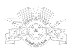 fire and iron Free Dxf File for CNC