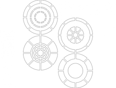 circles Free Dxf File for CNC
