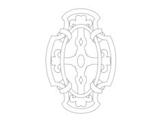 emblem Free Dxf File for CNC
