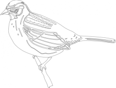 bird sitting Free Dxf File for CNC