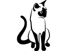 cat 01 Free Dxf File for CNC